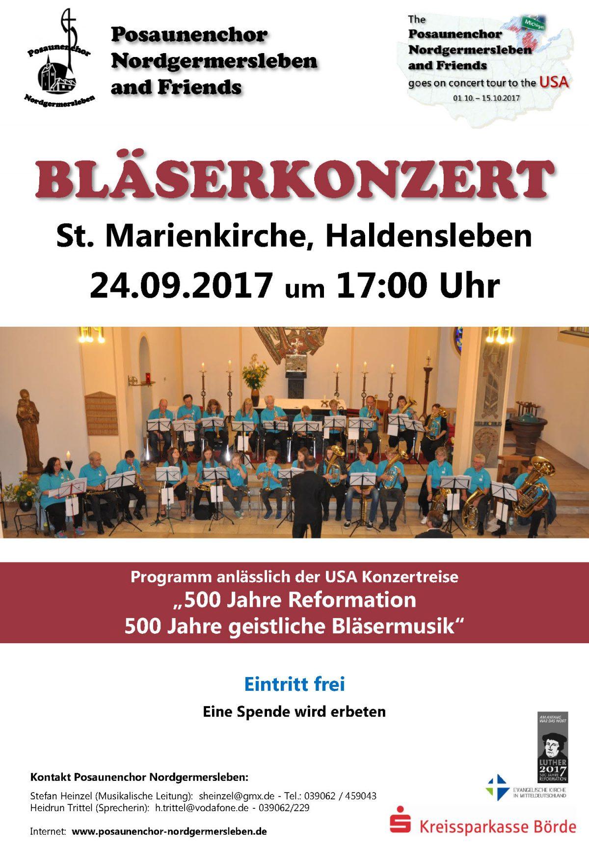 Konzert 24.09.17, 17.00 Uhr, St. Marien