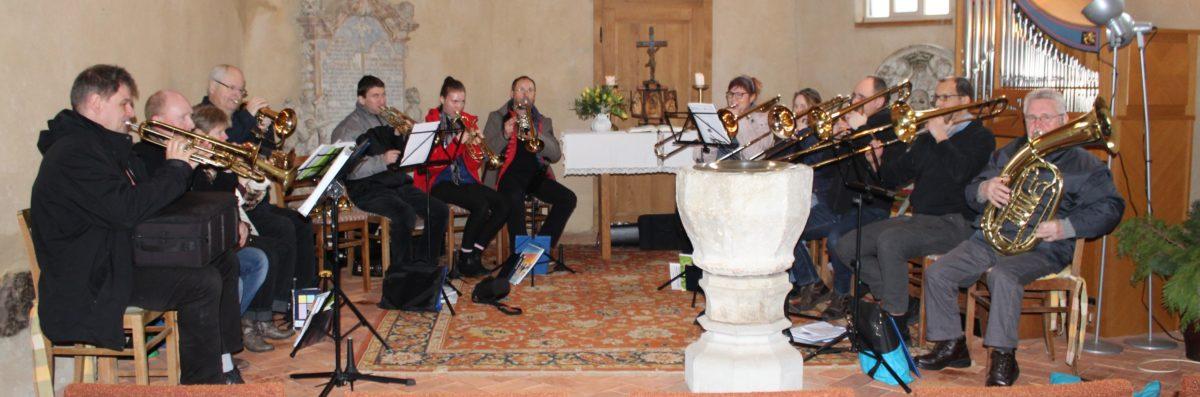 Auftaktgottesdienst in Wespen zum Bläserfest im Mai